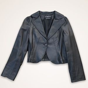 RAMPAGE Vintage Genuine Leather Jacket